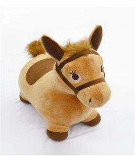 Купить НАША ИГРУШКА Лошадка-попрыгунчик Наша игрушка, бежев. [63801], Бежевый, Детские мячи и прыгуны