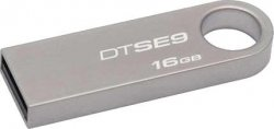 Флешка 16 Гб Kingston SE9 (DTSE9H/16GB) USB 2.0 Type A, серебристая