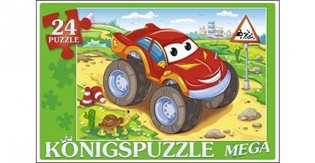 Купить KÖNIGSPUZZLE Мега-пазлы Konigspuzzle. Суперджип , 24 элемента [ПК24-5882/РК], 285 x 195 x 40 мм, Картон, Пазлы