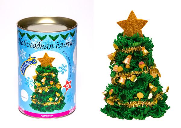 Купить ВОЛШЕБНАЯ МАСТЕРСКАЯ Набор для творчества Новогодняя елочка (12 см), с мишурой [ШФ-05], Детские товары