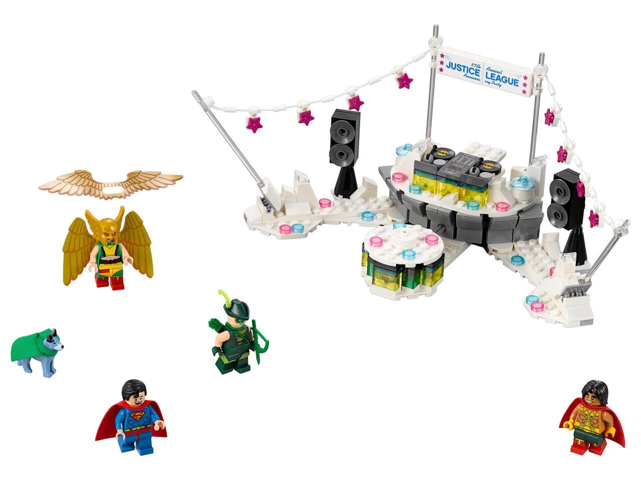 Купить Конструктор LEGO 70919 Batman Movie Вечеринка Лиги Справедливости, пластик, Для мальчиков и девочек, Китай, Конструкторы