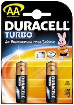 Батарейка Duracell Turbo LR6-2BL-2 AA