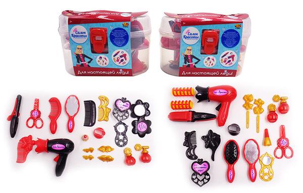Купить ABTOYS Игровой набор Салон красоты , 17 предметов [PT-00623 (WK-B9757)], пластик, Для девочек, Играем в салон красоты