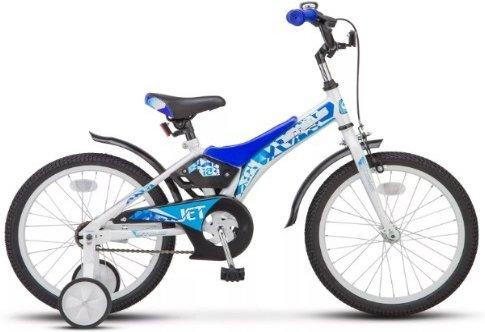 Купить Детский велосипед STELS Jet (LU072121) бело-синий, Велосипеды для взрослых и детей