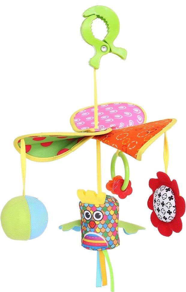 Купить BIBA TOYS Развивающая игрушка-подвеска на клипсе ЖУРАВЛЕНОК, выс. 28 см [BM178], Подвески для малышей