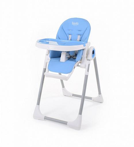 Купить NUOVITA Стульчик для кормления Grande , цвет: голубой [Q1 363], пластик, Металл, эко-кожа, Для мальчиков, Стульчики для кормления малышей