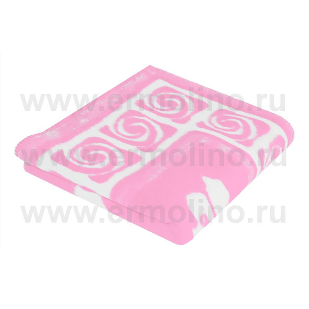 Купить ЕРМОЛИНО Одеяло детское байковое х/б 118x100 Розовый [57-6ЕТ Ж], Россия, Покрывала, подушки, одеяла для малышей