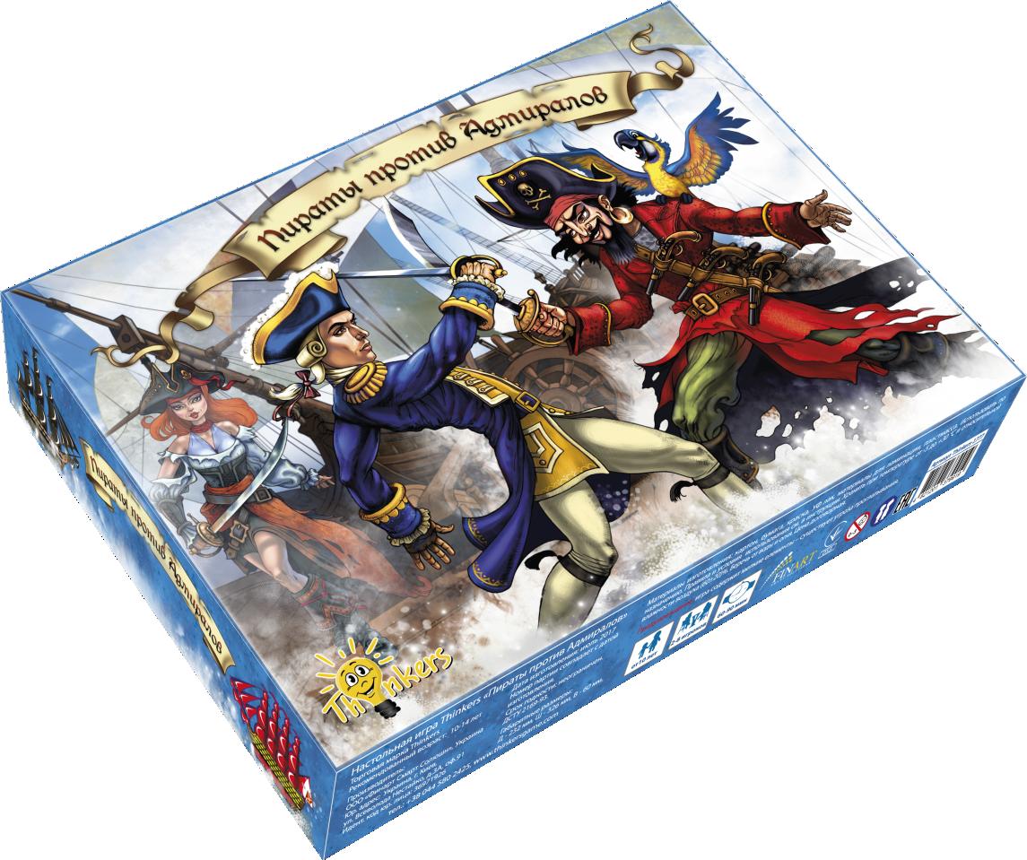 Купить Настольная игра THINKERS 1777 Пираты против Адмиралов, Для мальчиков и девочек, Украина, Настольные игры