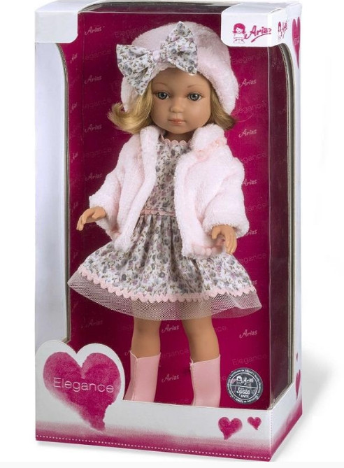 Купить MUNECAS ARIAS Кукла ARIAS , в платье, шапочке и ботиночках, 36 см [Т11074], Текстиль, винил, Для девочек, Испания, Куклы и пупсы