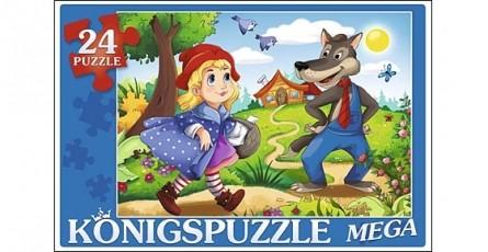 Купить ПК24-5879, Königspuzzle Мега-пазлы Konigspuzzle. Красная шапочка-2 , 24 элемента, Königspuzzle, Картон, Россия, от 3 лет, Пазлы