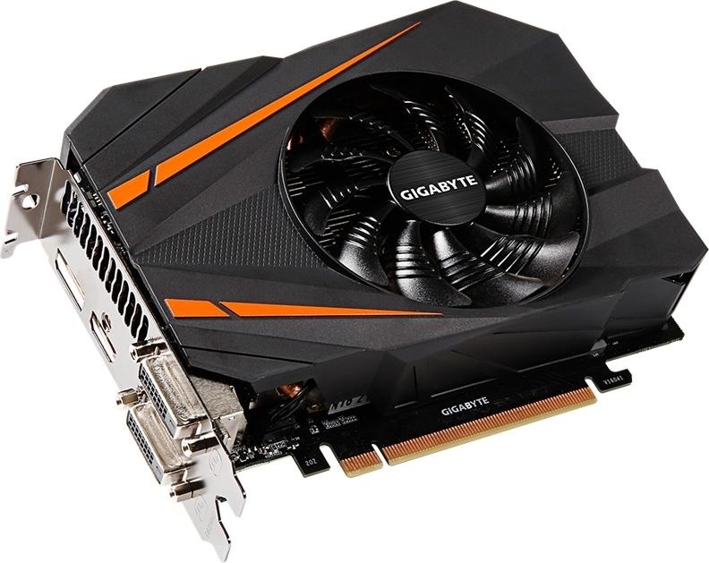 Купить Видеокарта Gigabyte PCI-Ex GeForce GTX 1070 Mini ITX OC 8GB GDDR5 (256bit) (1531/8008) (2 x DVI, HDMI, Display Port) (GV-N1070IXOC-8GD), NVIDIA GeForce GTX 1070, Китай