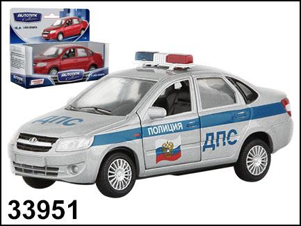 Купить AUTOTIME Машина Lada Granta . ДПС, 1:36 [33951W-RUS], Серебристый, голубой, пластик, Металл, Игрушечные машинки и техника
