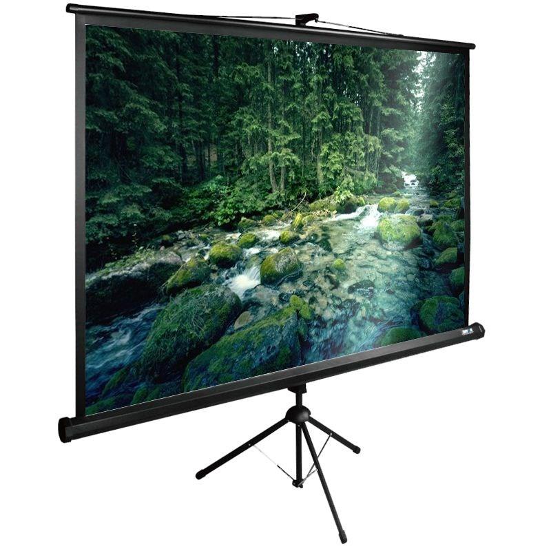 Картинка для Экран напольный рулонный Cactus Tri Expert (CS-PSTE-220x165-BK) 4:3 165x220 см