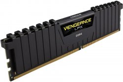Оперативная память DIMM 16 Гб DDR4 2400 МГц Corsair Vengeance LPX Black (CMK16GX4M1A2400C16) PC-19200