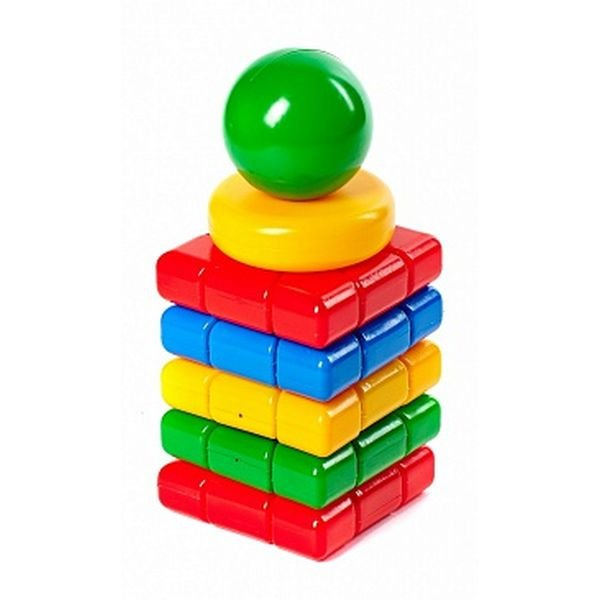 Купить КЛАСАТА Пирамидка Башенка [1123/KL], 270 x 150 x 150 мм, пластик, Пирамидки для малышей