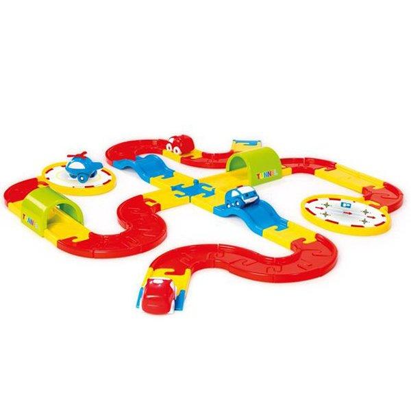 Купить DOLU Игровой набор дорога с машинками 54 детали [DL_5050], 8 x 102 x 98 см, пластик, Детские парковки и гаражи