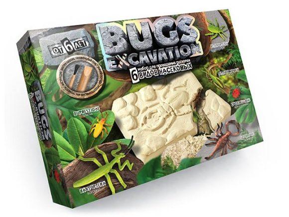 Купить ДАНКО-ТОЙС Набор для проведения раскопок Bugs Excavation Насекомые (богомол, скорпион, жуки) [BEX-01-04], Danko Toys, Детские наборы для исследований