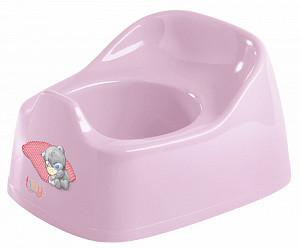 Купить ME TO YOU Горшок детский с аппликацией Me to you , 270x220x150 мм (розовый) [УТ0007714], пластик, Горшки и детские сиденья на унитаз