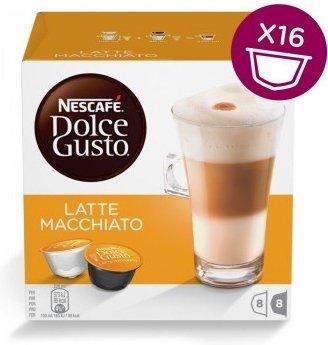 Картинка для Капсулы для кофемашин капсульного типа Krups NESCAFE DOLCE GUSTO Latte Macchiato (упак.:8шт)