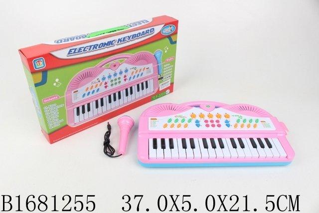 Купить SHANTOU Синтезатор с микрофоном, в/к 37*5*21, 5 см [JB201877], Детские музыкальные инструменты