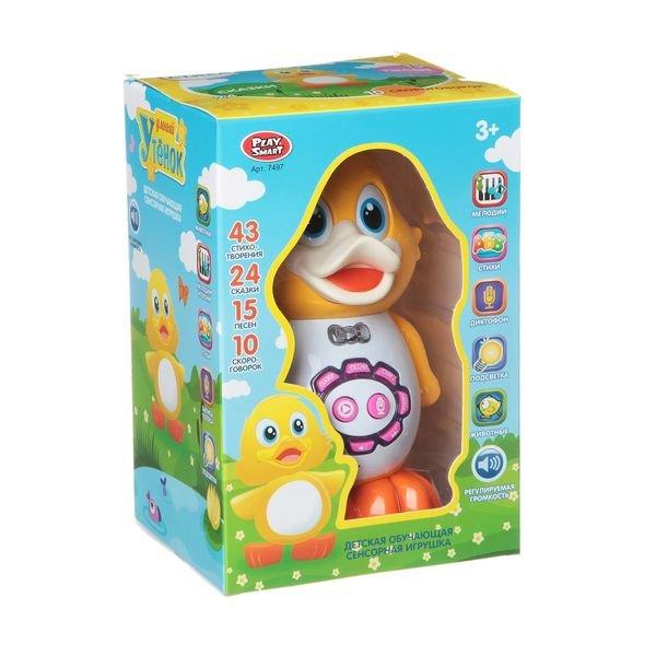 Купить PLAY SMART Умный утёнок, арт. 7497., пластик, Китай, Развивающие игрушки для малышей