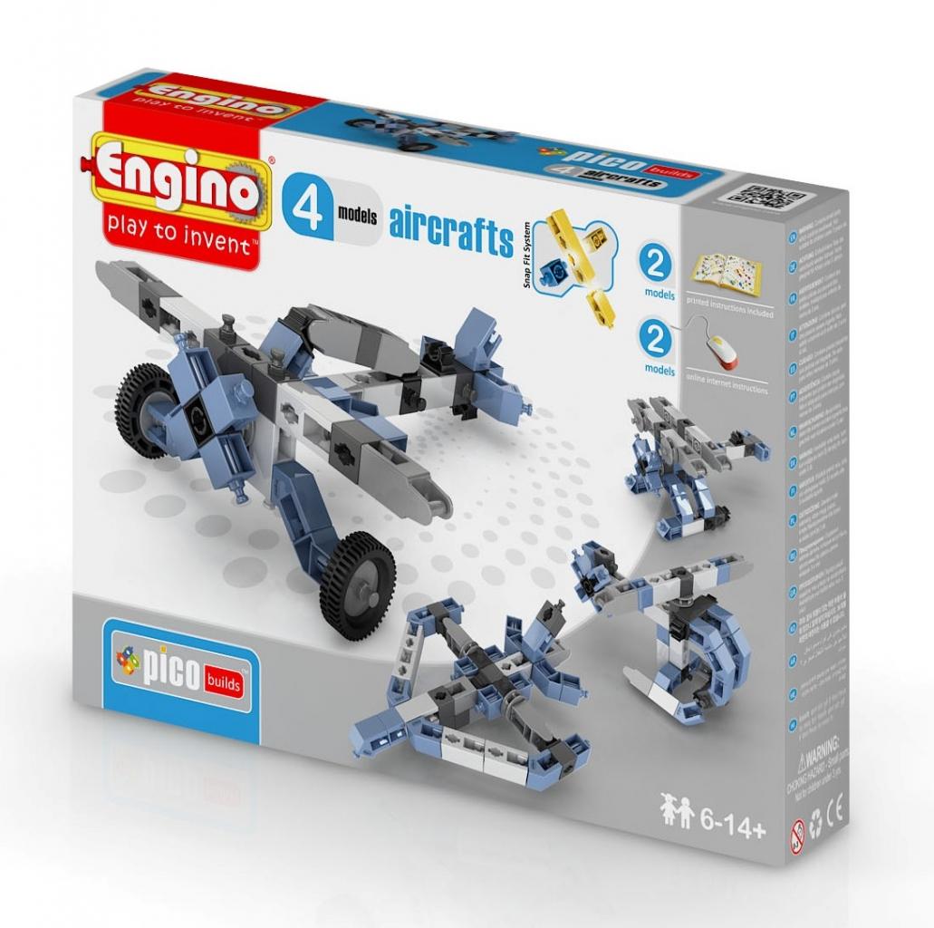Купить Конструктор ENGINO PB 13/0433 INVENTOR Самолеты - 4 модели, пластик, Для мальчиков и девочек, Кипр (Республика), Конструкторы