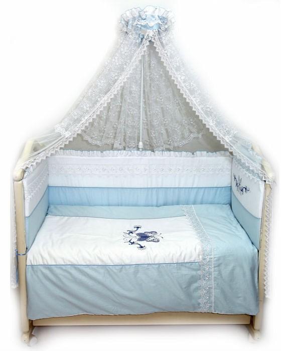 Купить BOMBUS Комплект в кроватку Абэль (цвет: голубой, 7 предметов) [1122], сатин, Для мальчиков, Постельное белье для малышей