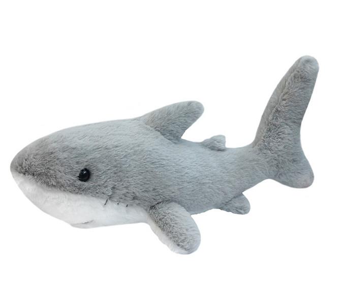 Купить MAXITOYS Мягкая игрушка Акула , 30 см [MT-111704], мех искусственный, волокно полиэфирное, трикотажный, фурнитура из пластмасс, Мягкие игрушки