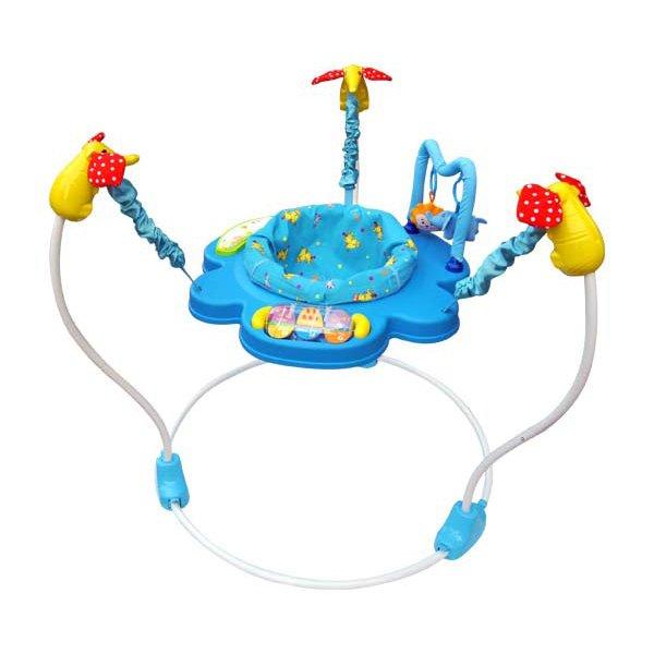 Купить LA-DI-DA Прыгунки с игрушками, с муз., сид. вращается на 360, диаметр 92см, высота 85см, [JP-1-101B], Китай, Ходунки и прыгунки для малышей