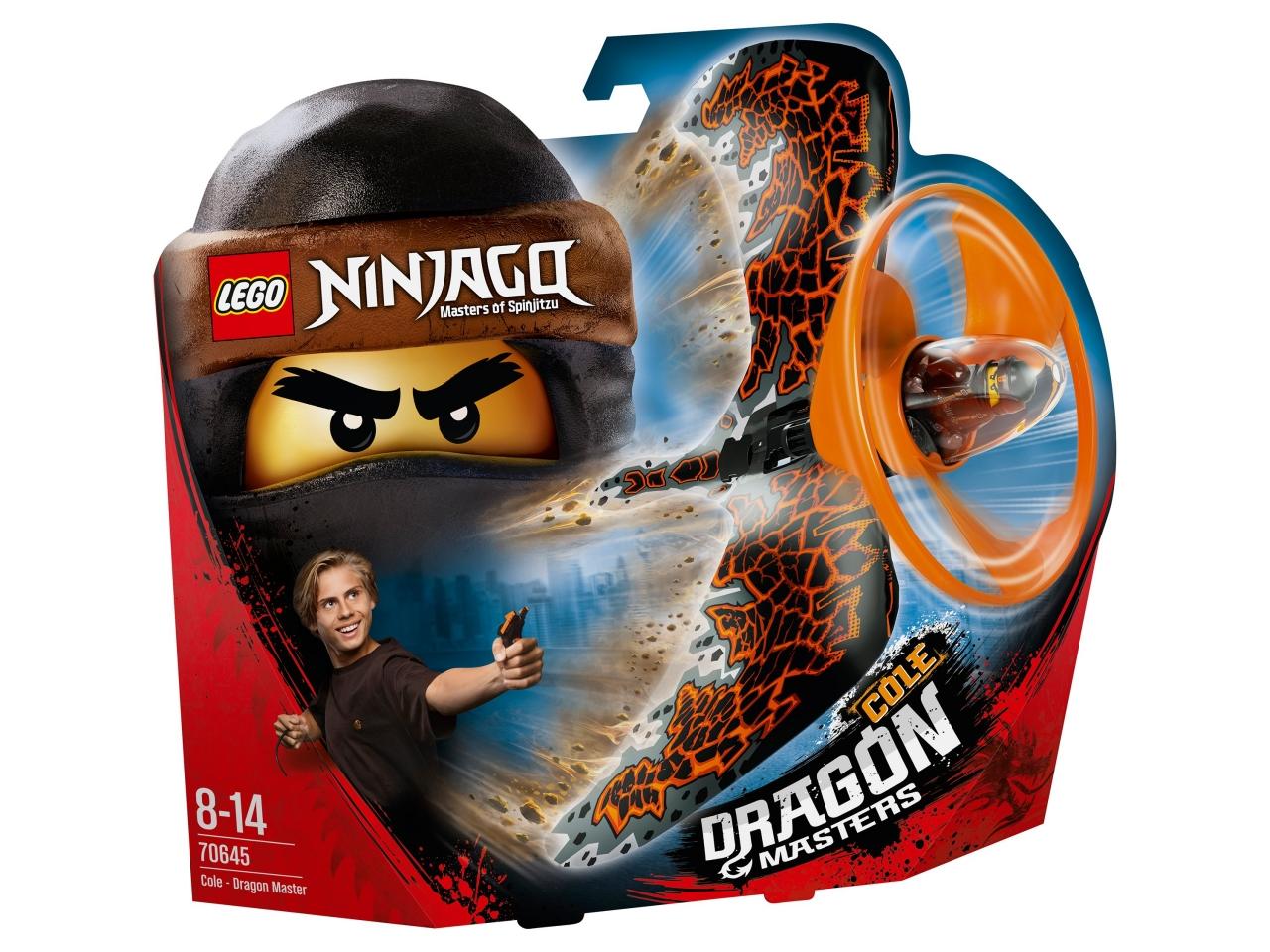 Купить Конструктор LEGO 70645 Ninjago Коул — Мастер дракона, пластик, Для мальчиков и девочек, Дания, Конструкторы