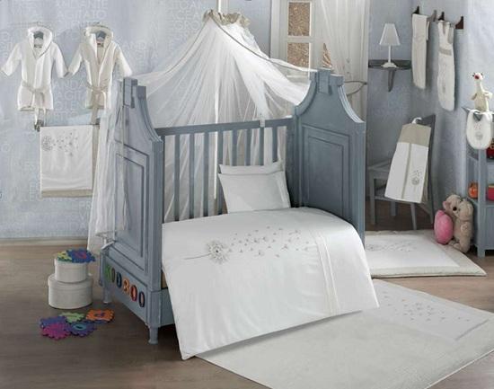 Купить KIDBOO Комплект постельного белья Blossom Saten Vanilla (4 предмета) [00-0013344], белый, 100% полиэстер/ 100% хлопок, Для мальчиков и девочек, Постельное белье для малышей