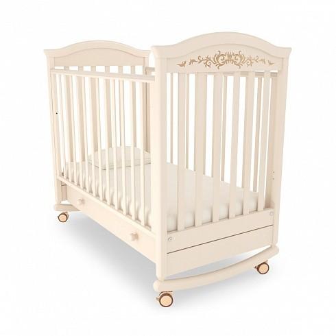 Купить GANDYLYAN Кровать детская Gandylyan Даниэль Люкс (цвет: слоновая кость) [GAN_К-2002-29], Бежевый, массив бука, Россия, Кроватки детские