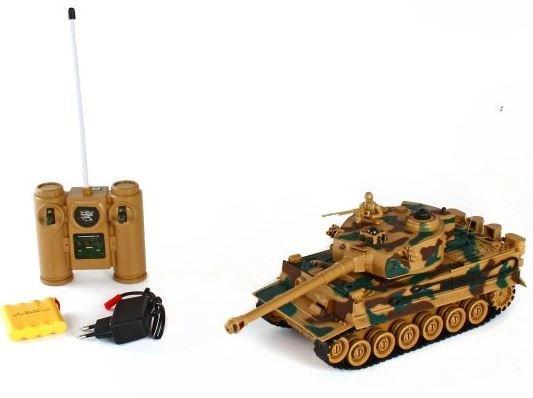 Купить ПЛАМЕННЫЙ МОТОР Танк на радиоуправлении Tiger (масштаб 1:28) [87553], Игрушечные машинки и техника