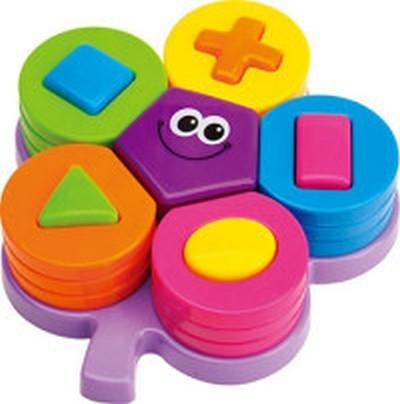 Купить MAMAN Игрушка пластмассовая Цветок с геометрическими формами [9073], пластик, Развивающие игрушки для малышей