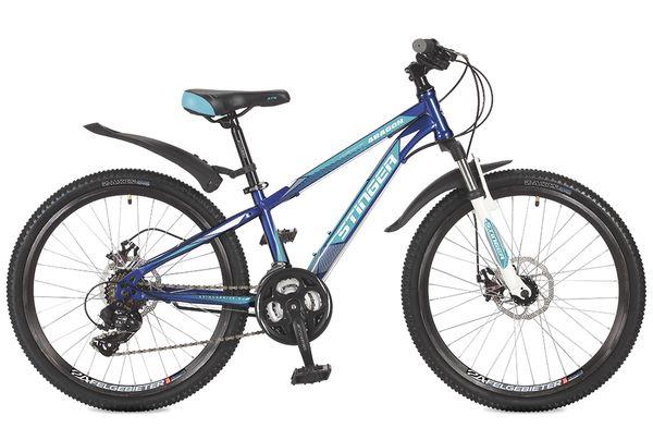 Купить STINGER Велосипед подростковый Aragon, синий [24SHDARAGON14BL7], Велосипеды для взрослых и детей