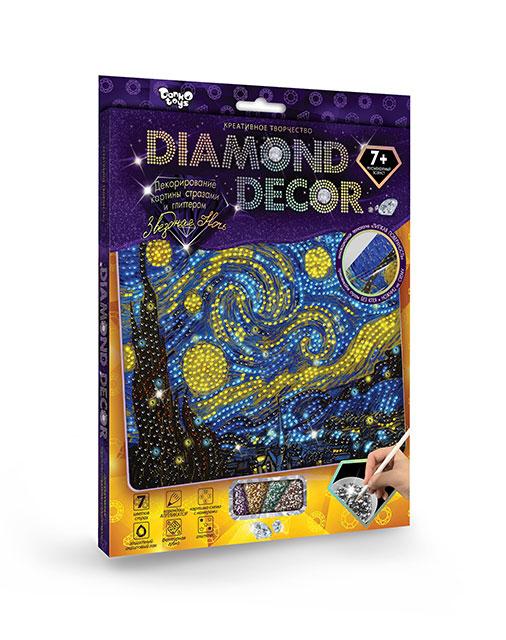 Купить DANKO TOYS Набор для создания мозаики серии Diamond Decor , набор 6 [DD-01-06], Желтый, синий, Картон, стразы, Украина, Бисер и бисероплетение