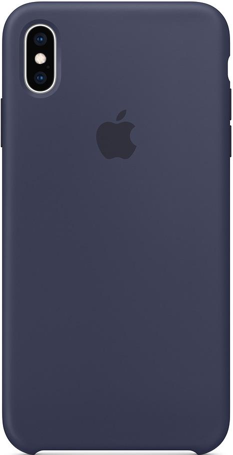Купить Чехол Apple Silicone Case для iPhone XS Max, тёмно-синий, MRWG2ZM/A, накладка, Китай