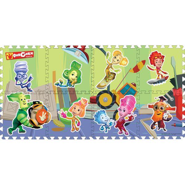 Купить ИГРАЕМ ВМЕСТЕ Коврик-пазл Фиксики , 8 сегментов, каждый 31, 5x31, 5 см [FS-FIX], Развивающие коврики для малышей