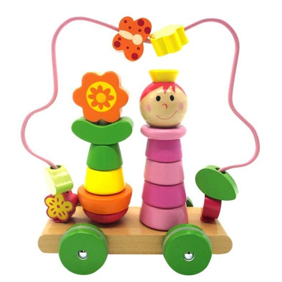 Купить MAPACHA Лабиринт-пирамидка на колесиках Девочка [76729], Дерево, Металл, Сортеры для малышей