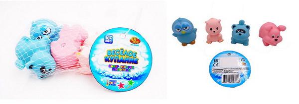 Купить ABTOYS Набор для ванны Веселое купание , 4 предмета [PT-00882], Детские игрушки для ванной