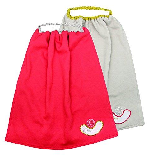 Купить BEBE CONFORT Фартук Bebe Confort для детей (от 1 до 3 лет), 2 штуки, [3105203600], серый, красный, Хлопок, Нагрудники и слюнявчики