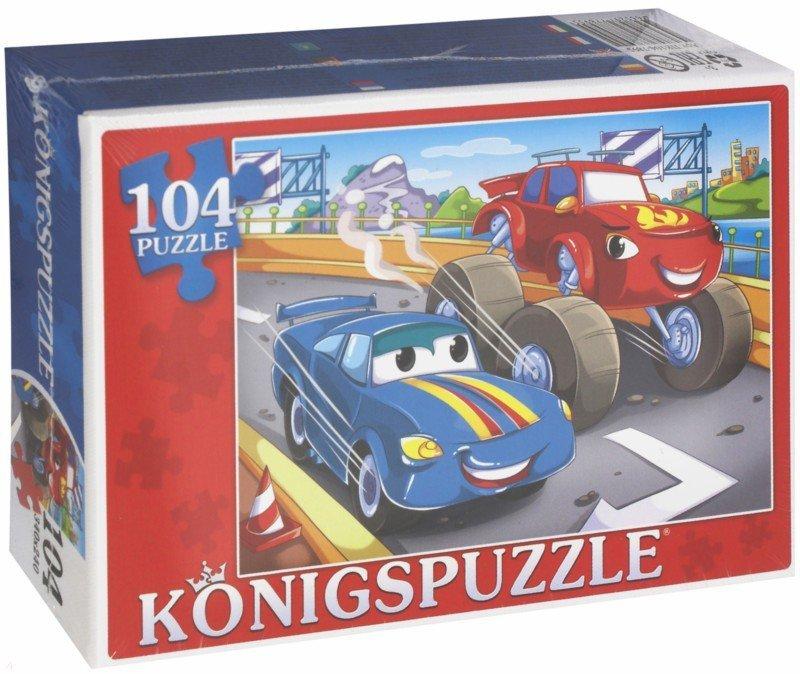 Купить KÖNIGSPUZZLE Пазлы Konigspuzzle. Джип и тачка , 104 элемента [ПК104-7895/РК], Königspuzzle, Картон