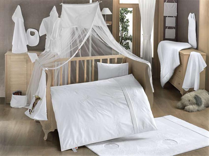 Купить KIDBOO Комплект постельного белья White Dreams (3 предмета) [00-0012162], белый, Хлопок, Для мальчиков и девочек, Турция, Постельное белье для малышей