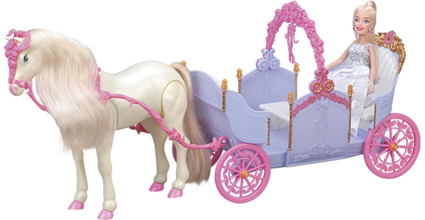 Купить GIRL'S CLUB Игровой набор Карета с лошадкой и куклой , [IT102729], пластик, Играем в салон красоты