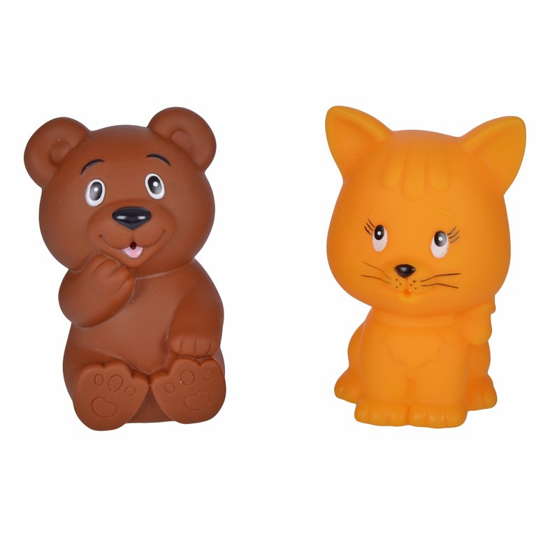 Купить ЖИРАФИКИ Набор для купания Мишка и котёнок [681270], Жирафики, ПВХ, Россия, Детские игрушки для ванной