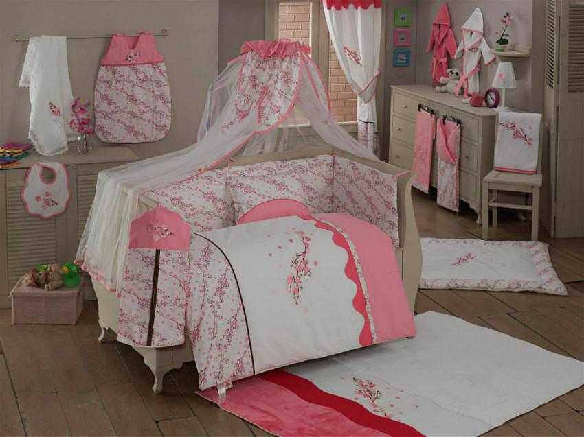 Купить KIDBOO Комплект постельного белья Bello Fiore (3 предмета) [00-0012142], красный, белый, Хлопок, Для мальчиков и девочек, Постельное белье для малышей