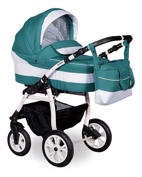 Купить INDIGO Коляска 2-в-1 Indigo Sydney 17 (цвет: морская волна/белый) [УТ0008034], белый, морская волна, пластик, Металл, ткань, Детские коляски