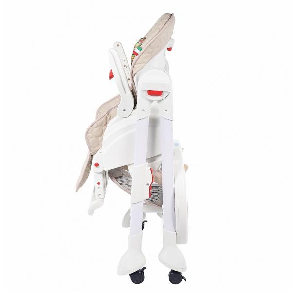 Купить 12360829, SWEET BABY Стульчик для кормления Luxor Strip Beige [Luxor Strip Beige], Стульчики для кормления малышей