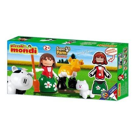 Купить PLASTWOOD Магнитный конструктор Piccoli Mondi Super Farm , цвет: Lady Farm [0526], пластик, Металл, Конструкторы
