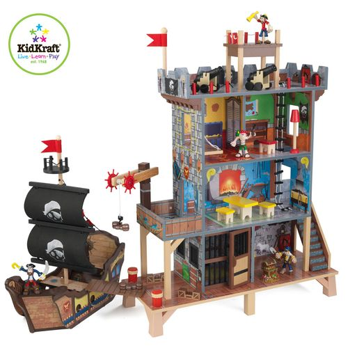 Купить KIDKRAFT Набор Пиратский форт [63284_KE], 47 x 24 x 55 см, Дерево, Игровые наборы и фигурки для детей